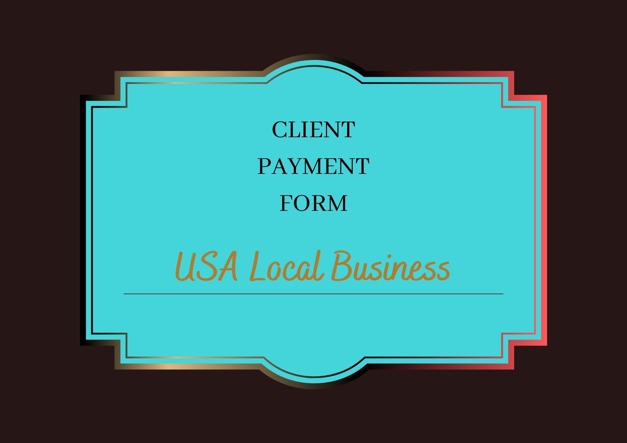 Health Portal US - Client Payment form